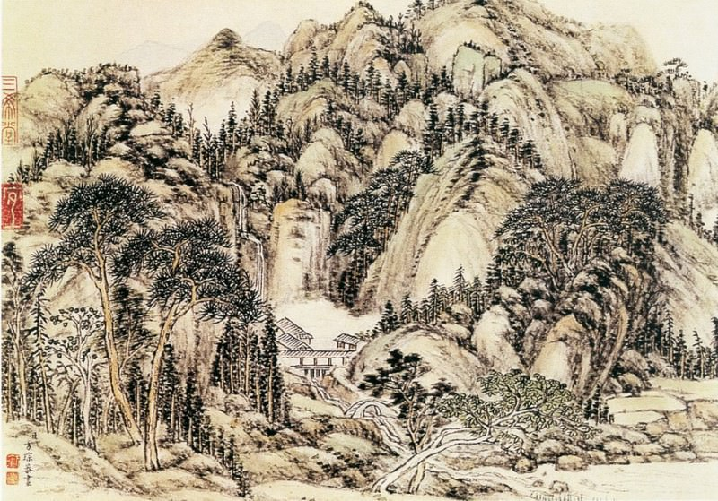 Wang Yu. Chinese artists of the Middle Ages (王昱 - 重林复嶂图)