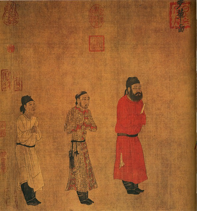 Yan Liben. Chinese artists of the Middle Ages (阎立本 - 步辇图)