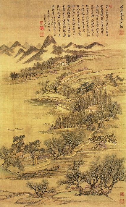 Wang Yun. Chinese artists of the Middle Ages (王晕 - 仿古四季山水图(之一))
