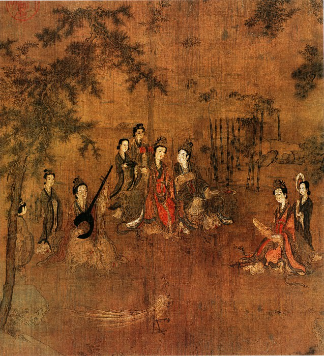 Ruan Gao. Chinese artists of the Middle Ages (阮郜 - 阆苑女仙图)