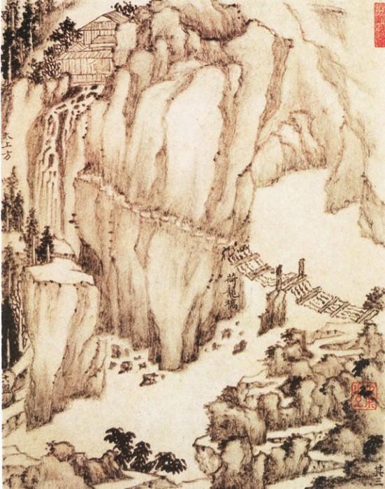 Dai Benxiao. Китайские художники средних веков (戴本孝 - 华山景图(之一))