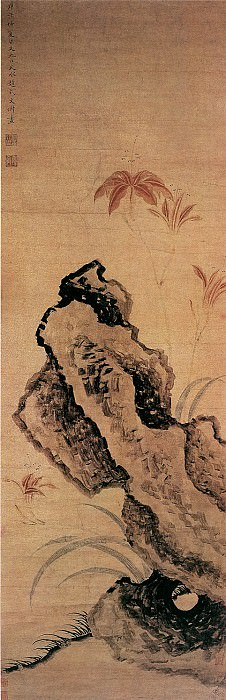 Wen Jiao. Chinese artists of the Middle Ages (文椒 - 萱石图)
