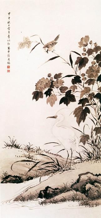 Jiang Tingxi. Китайские художники средних веков (蒋廷锡 - 芙蓉鹭鸶图)