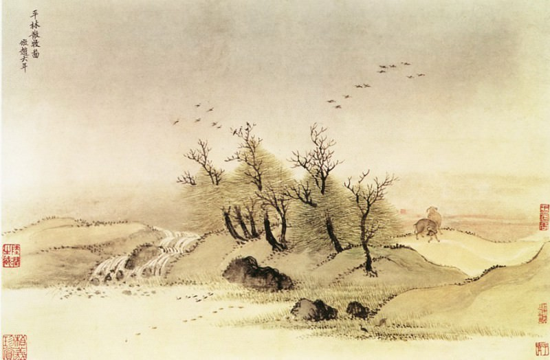 Wang Yun. Chinese artists of the Middle Ages (王晕 - 仿古山水图(之一二))