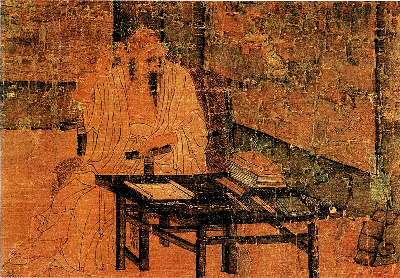Wang Qihan. Chinese artists of the Middle Ages (王齐翰 - 勘书图)