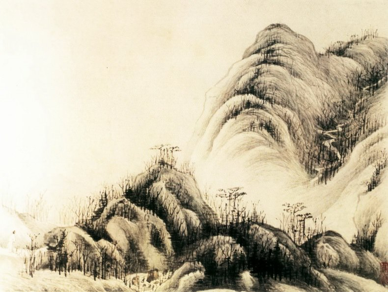 Ye Xin. Chinese artists of the Middle Ages (叶欣 - 山水图(之一二))
