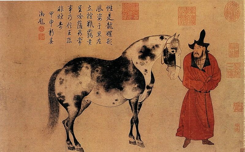 Zhao Yong. Chinese artists of the Middle Ages (赵雍 - 临李公麟人马图)