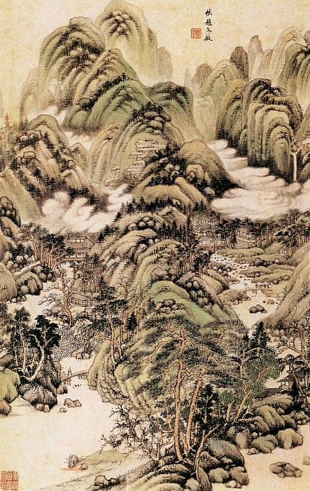Wang Jian. Chinese artists of the Middle Ages (王鉴 - 仿宋元山水图)