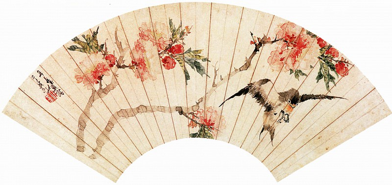 Ren Xun. Chinese artists of the Middle Ages (任薰 - 花鸟图)