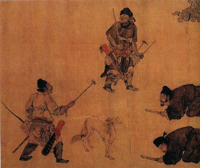 Yan Liben. Chinese artists of the Middle Ages (阎立本 - 锁谏图)