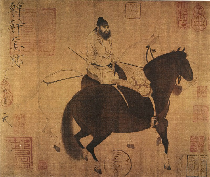 Han Wo. Chinese artists of the Middle Ages (韩斡 - 牧马图)