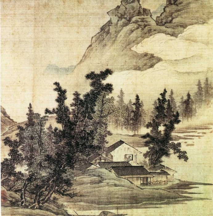 Unknown. Chinese artists of the Middle Ages (江南山水图之)