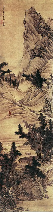 Zou Jie. Chinese artists of the Middle Ages (邹拮 - 山船白岸图)