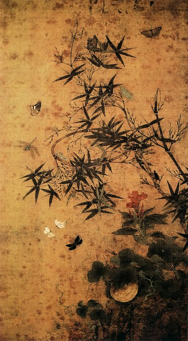 Zhao Chang. Chinese artists of the Middle Ages (赵昌 - 竹虫图)