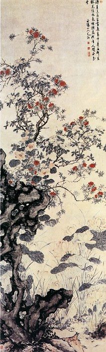 Chen Chun. Chinese artists of the Middle Ages (陈淳 - 溽暑花卉图)