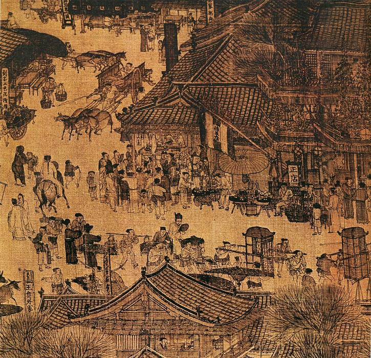 Zhang Zhaiduan. Chinese artists of the Middle Ages (张择端 - 清明上河图(部分))