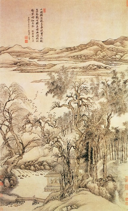 Wang Yun. Chinese artists of the Middle Ages (王晕 - 秋树昏鸦图)