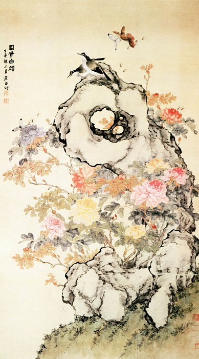 Ju Lian. Chinese artists of the Middle Ages (居廉 - 富贵白头图)