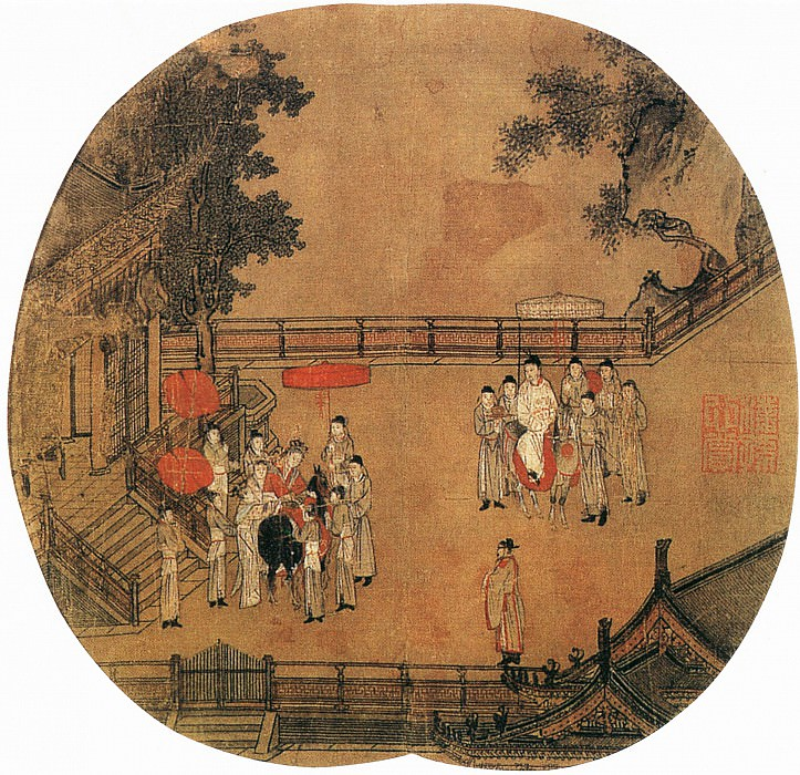 Unknown. Chinese artists of the Middle Ages (佚名 - 杨贵妃上马图)