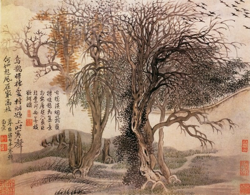 Yun Shouping. Chinese artists of the Middle Ages (恽寿平 - 山水花鸟图)