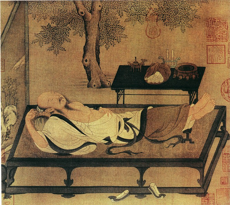 Unknown. Chinese artists of the Middle Ages (佚名 - 槐阴消夏图)