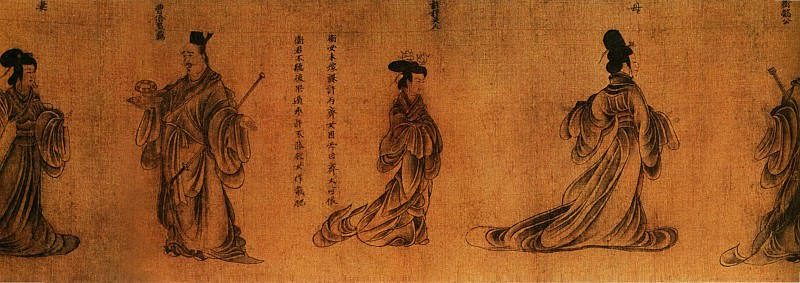 Gu Kai. Chinese artists of the Middle Ages (顾恺之 - 列女图)
