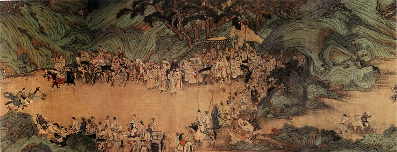 Zhao Yong. Chinese artists of the Middle Ages (赵雍 - 狩猎人物图)