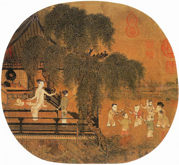 Chen Qingbo. Chinese artists of the Middle Ages (陈清波 - 瑶台步月图)