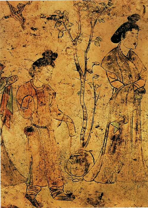Unknown. Chinese artists of the Middle Ages (佚名 - 观鸟扑蝉图(部分))
