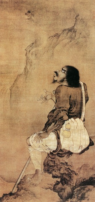 Yan Hui. Chinese artists of the Middle Ages (颜辉 - 铁拐仙人像)