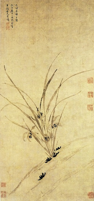 Zhou Tianqiu. Chinese artists of the Middle Ages (周天球 - 兰花图)