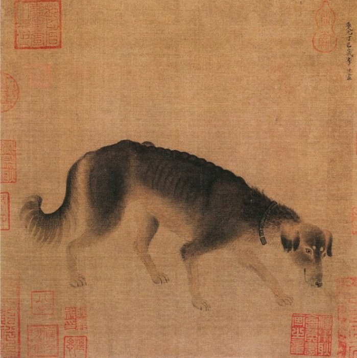 Li Di. Chinese artists of the Middle Ages (李迪 - 猎犬图)