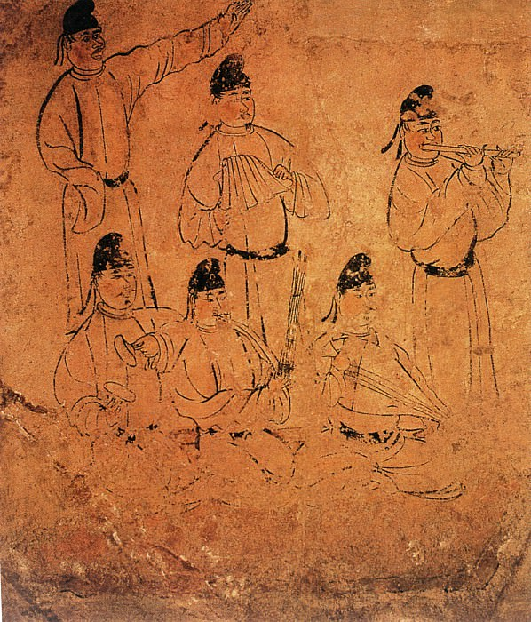 Unknown. Chinese artists of the Middle Ages (佚名 - 乐舞图(之一、二))