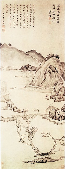 article conforms to simplicity. Chinese artists of the Middle Ages (文从简 - 郑州景物图)
