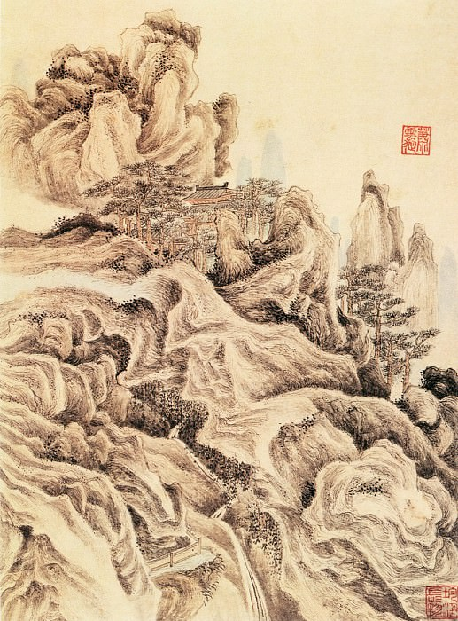 Xiao Yuncong. Chinese artists of the Middle Ages (萧云从 - 山水图(之一))