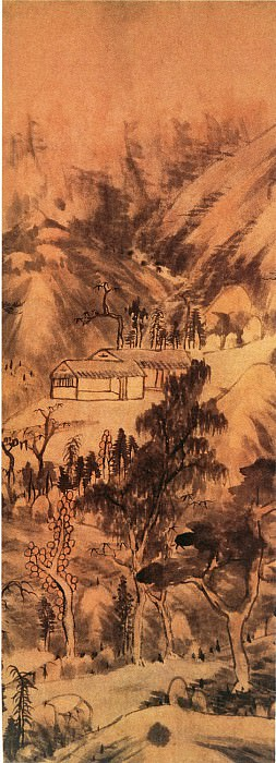 Zhu Da. Chinese artists of the Middle Ages (朱耷 - 山水通景图)