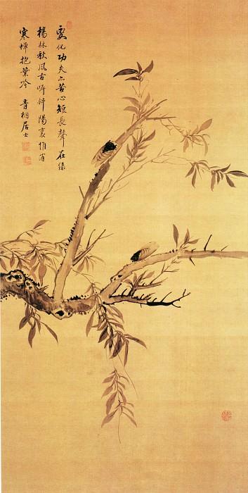Jiang Tingxi. Китайские художники средних веков (蒋廷锡 - 柳蝉图)