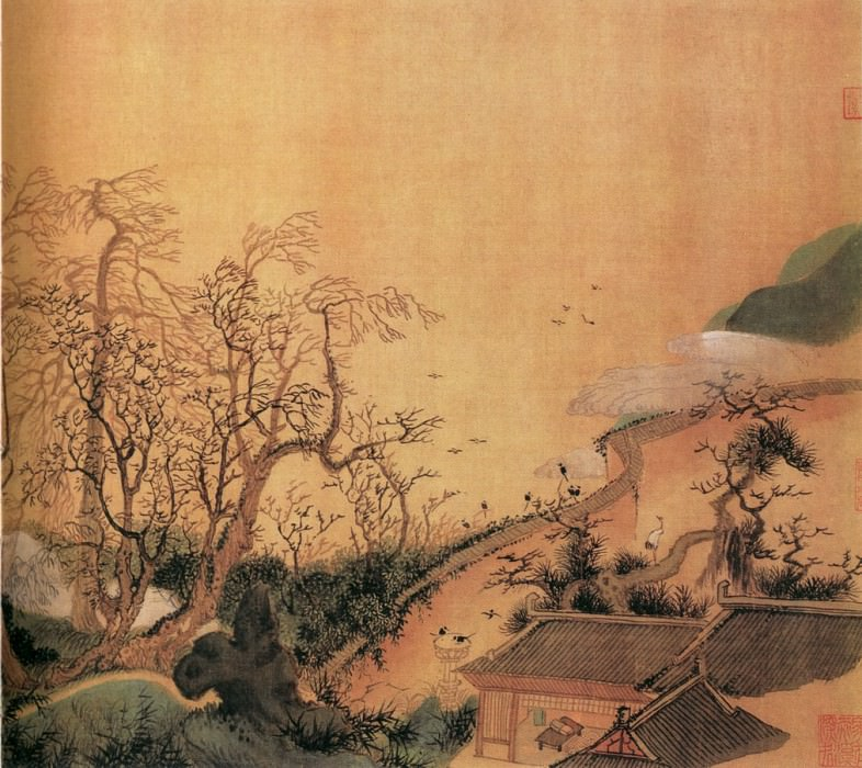 Wu Li. Chinese artists of the Middle Ages (吴历 - 兴福感旧图)