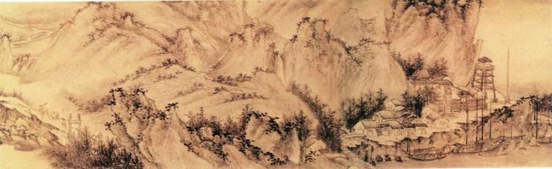 Wu Hong. Китайские художники средних веков (吴宏 - 秋山行旅图(部分))