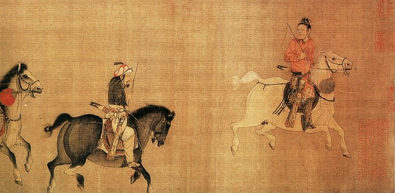 Li Zanhua. Chinese artists of the Middle Ages (李赞华 - 东丹王出行图)