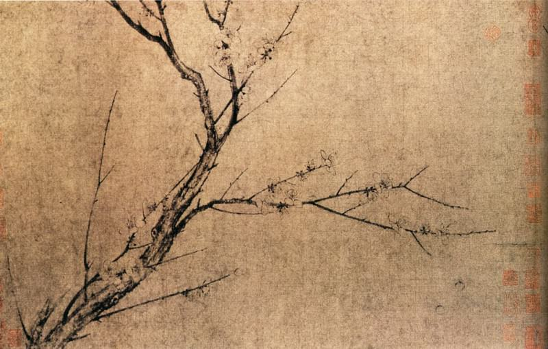 Yang Wu Jiu. Chinese artists of the Middle Ages (扬无咎 - 四梅图)