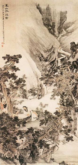 Tang Yi Fen. Chinese artists of the Middle Ages (汤贻汾 - 秋坪闲话图)