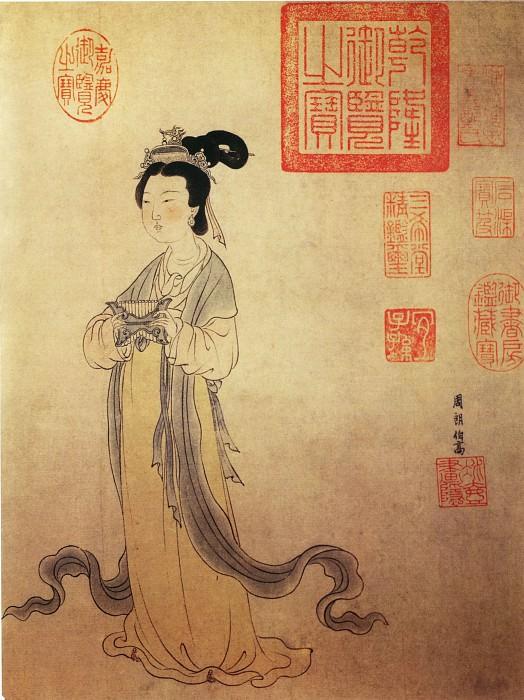Zhou Long. Китайские художники средних веков (周朗 - 杜秋娘图(部分))