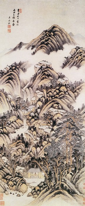Unknown. Chinese artists of the Middle Ages (立轴纸本设色)
