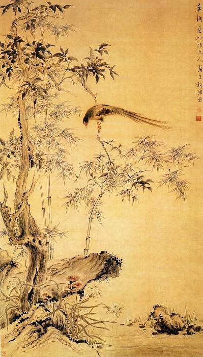Hua Pinshan. Китайские художники средних веков (华品山 - 桂树绶带图)