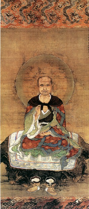 Zhao Qiong. Chinese artists of the Middle Ages (赵琼 - 十六罗汉·第二尊者)