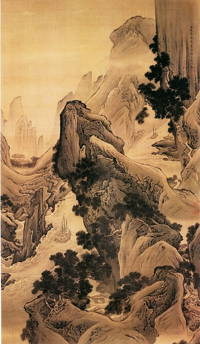 Yuan Yao. Chinese artists of the Middle Ages (袁耀 - 巫峡秋涛图)