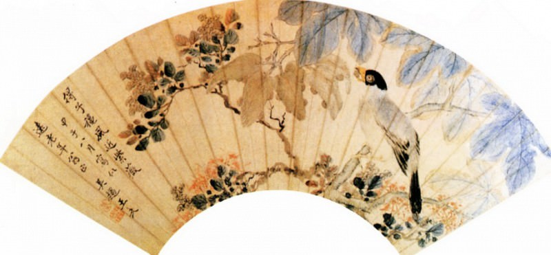 Wang Wu. Chinese artists of the Middle Ages (王武 - 梧禽紫薇图)