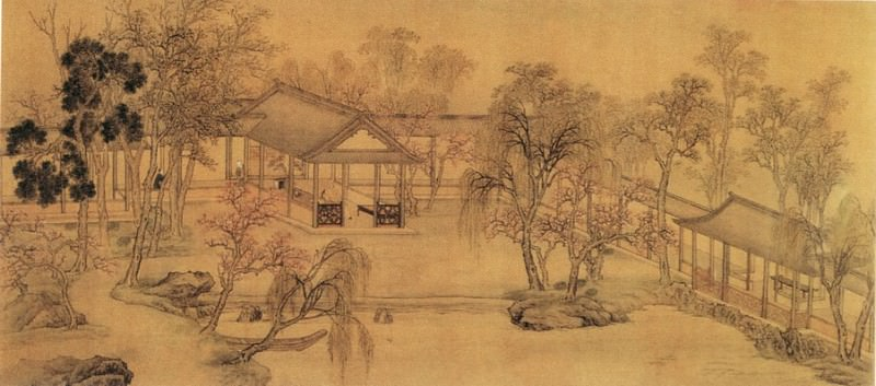 Wang Yun. Chinese artists of the Middle Ages (王云 - 休园图(部分))