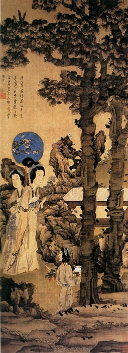 Chen Hong Shou. Chinese artists of the Middle Ages (陈洪绶 - 眷秋图)